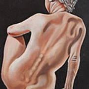 Nude On A Pedestal Art Print