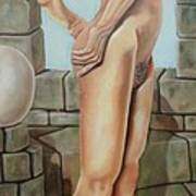 Nude On A Rampart Art Print