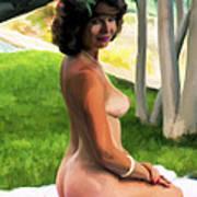 Nude Picnic 1 Art Print