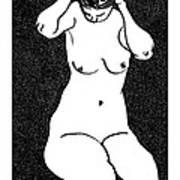 Nude Sketch 10 Art Print