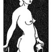 Nude Sketch 4 Art Print