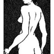 Nude Sketch 6 Art Print