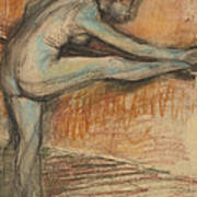 Nude Study For A Dancer At The Bar Art Print