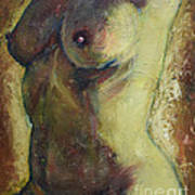 Nude Female Torso Art Print