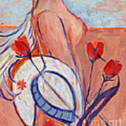 Nude With A White Hat Art Print