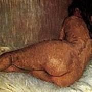 Nude Woman Reclining Art Print