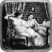 Nudes Having Tea, C1850 Art Print