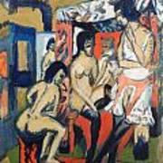 Nudes In Studio Art Print
