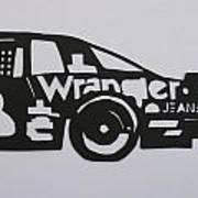 Number 3 Car Wrangler Art Print
