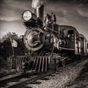 Number 4 Narrow Gauge Railroad Art Print