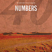 Numbers Books Of The Bible Series Old Testament Minimal Poster Art Number 4 Art Print by Design Turnpike