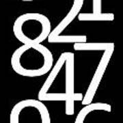 Numbers In Black And White Art Print