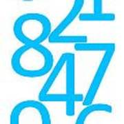 Numbers In Blue Art Print