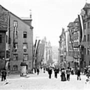 Nuremberg Street Scene 1903 Vintage Photograph Art Print