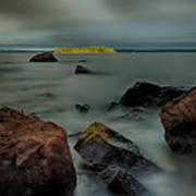 Nuttall Island Last Sunlight Art Print