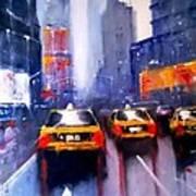 Ny Cabs 1 Art Print