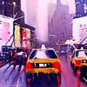 Ny Cabs2 Art Print
