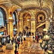 Ny Library Foyer Art Print