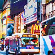 Ny Times Square Impressions Iv Art Print