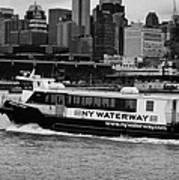 Ny Waterway Ferry Douglas B Gurian From New Jersey To New York City Art Print