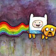 Nyan Time Art Print by Olga Shvartsur