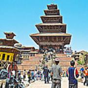 Nyatapola-tallest Pagoda In Nepal-in  Art Print