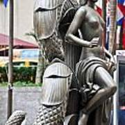 Nyc - Manhattan - Rockefeller Center - First Human Maiden Made F Art Print