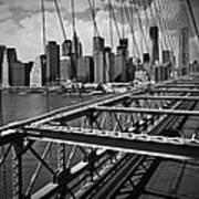 Nyc Brooklyn Bridge View Art Print