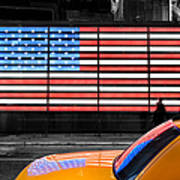 Nyc Cab Yellow Times Square Art Print by John Farnan