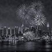 Nyc Celebrate Fleet Week Bw Art Print