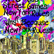 Nyc Kids' Street Games Poster Art Print