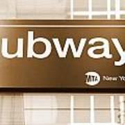 Nyc Subway Sign Art Print