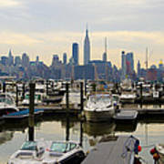 Nyc View From Lincoln Harbor Weehawkin Nj Art Print