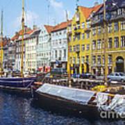 Nyhavn Boat Docks Art Print
