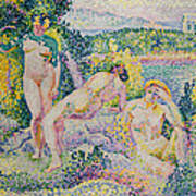 Nymphs Print by Henri Edmond Cross