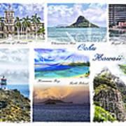 Oahu Postcard 1 Art Print