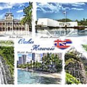 Oahu Postcard 2 Art Print