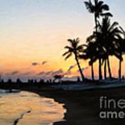 Oahu Sunset Art Print