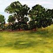 Oak Trees Art Print by Andrea Friedell