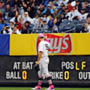 Oakland Athletics v. New York Yankees Art Print