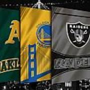 Oakland Sports Teams Art Print