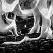 Oakwood Flames Art Print