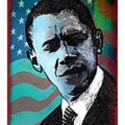 Obama-3 Art Print
