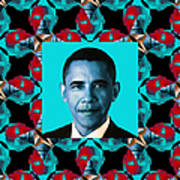 Obama Abstract Window 20130202m180 Print by Wingsdomain Art and Photography