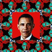 Obama Abstract Window 20130202p0 Art Print by Wingsdomain Art and Photography
