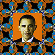 Obama Abstract Window 20130202p28 Art Print by Wingsdomain Art and Photography