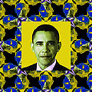 Obama Abstract Window 20130202p55 Print by Wingsdomain Art and Photography