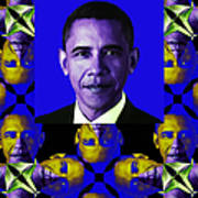 Obama Abstract Window 20130202verticalm118 Art Print by Wingsdomain Art and Photography
