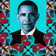 Obama Abstract Window 20130202verticalm180 Print by Wingsdomain Art and Photography