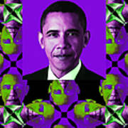 Obama Abstract Window 20130202verticalm88 Print by Wingsdomain Art and Photography
